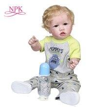 NPK 55CM 22 cal popularne reborn Saskia bebe lalka reborn maluch dziecko w długiej sukni ręcznie kolekcjonerska sztuka lalka zabawka do kąpieli