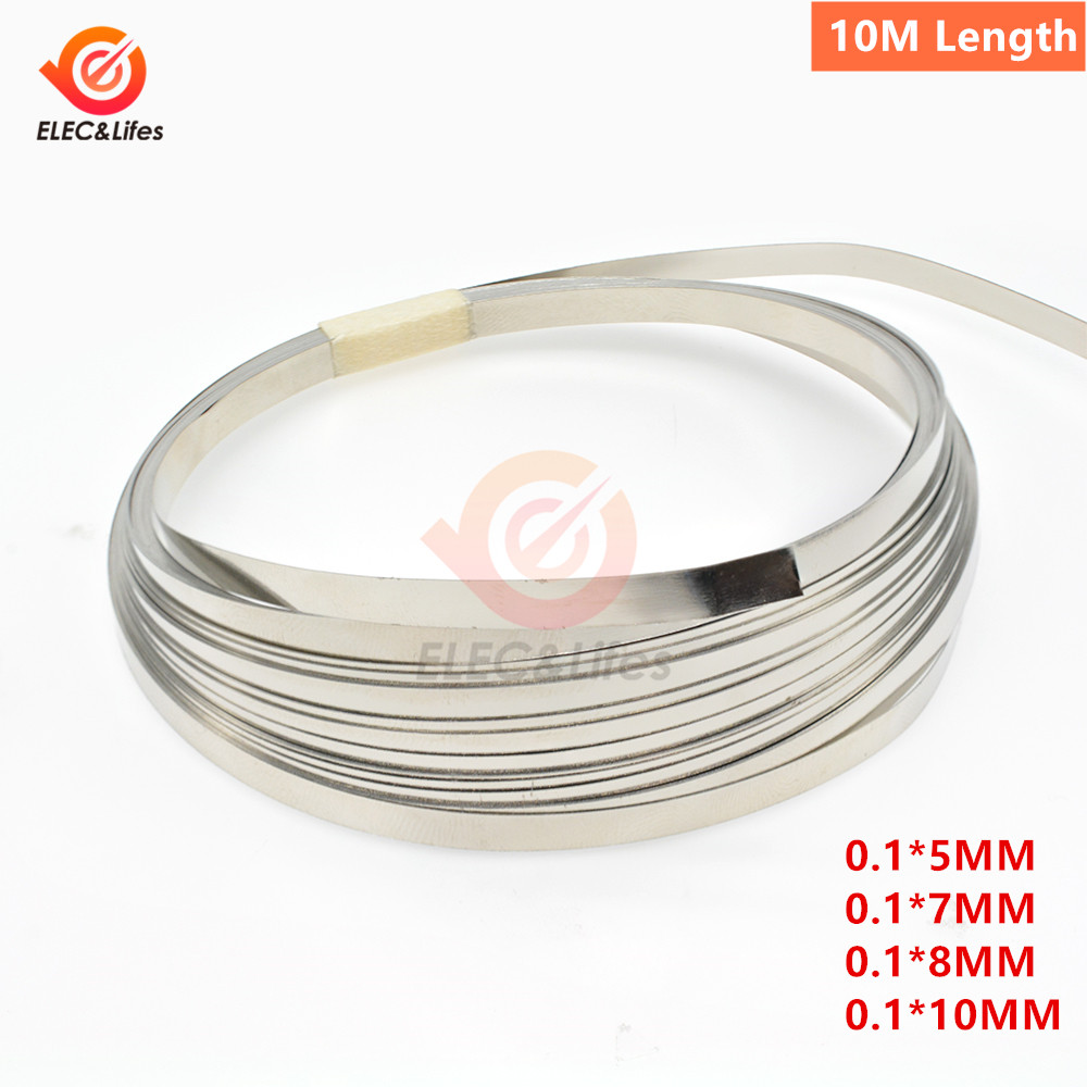 1 Roll 10m 18650 Li-ion Battery Nickel Sheet Plate Nickel Plated Steel Belt Strip Connector Spot Welding Machine Battery Welders