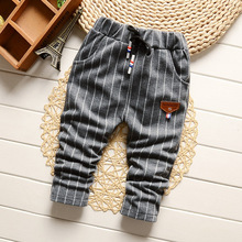 IENENS 0-2Y Fashion Boys Slim Straight Trousers Toddler Infant Boy's Casual Long Pants Kids Baby Children Cotton Stripe Bottoms