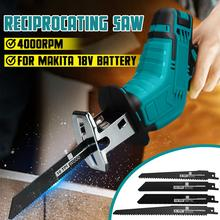 18V 4000rpm/min Cordless Electric Reciprocating Saw Variable Speed Metal Wood Cutting