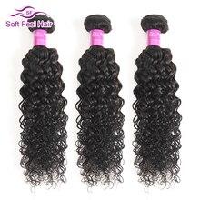 Soft Feel Hair Peruvian Kinky Curly Hair Weave Bundles Human Hair 3/4 Bundles Deals