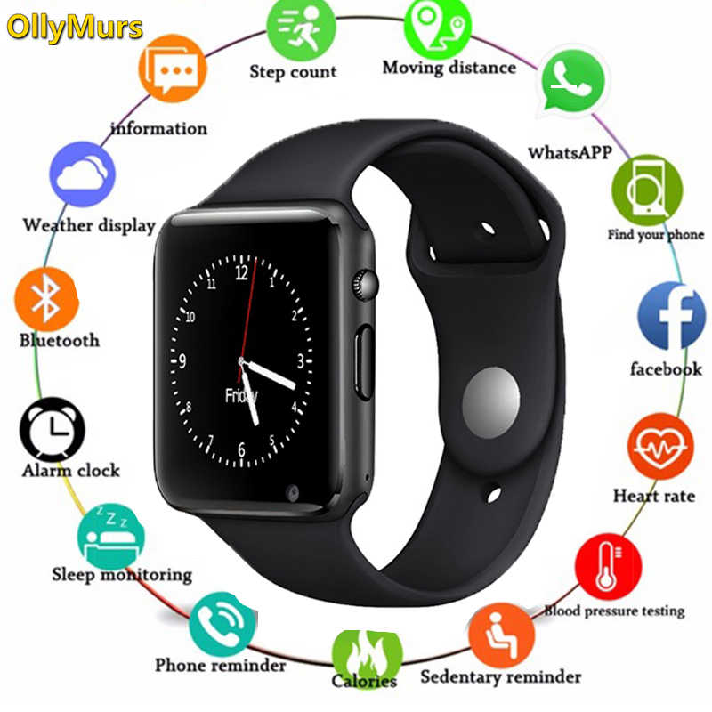 2019 A1 Smart Watch Men For Android Phone Apple Watch Support 2G Sim TF Card 0.3MP Camera Bluetooth Smartwatch Women Kids PK Q18