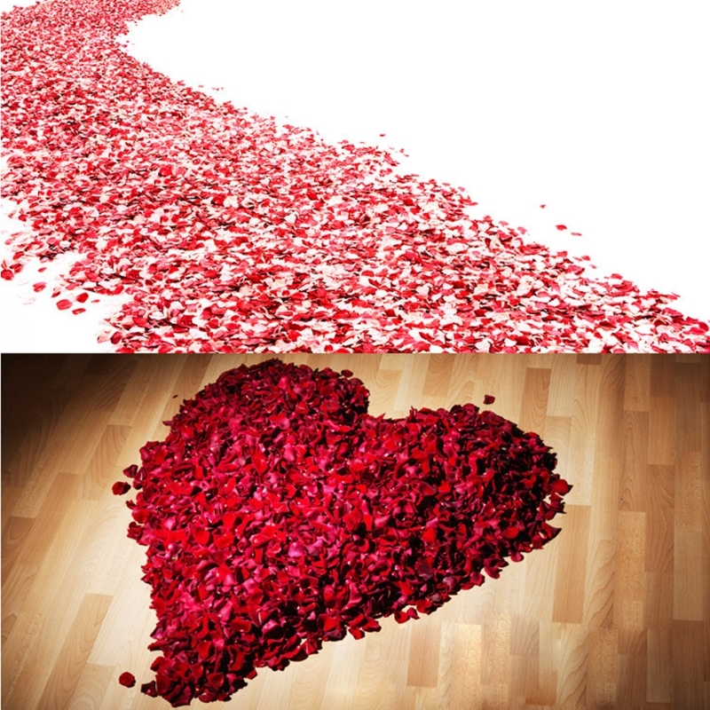 2000 Pcs Colorful Artificial Rose Petals Wedding Petalas Colorful Silk Flower Accessories Wedding Rose 2020
