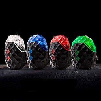 5 luces LED para bicicleta, 7 modos de luz para bicicleta, 2 proyectores láser, luces traseras para bicicleta de montaña, luz trasera para bicicleta