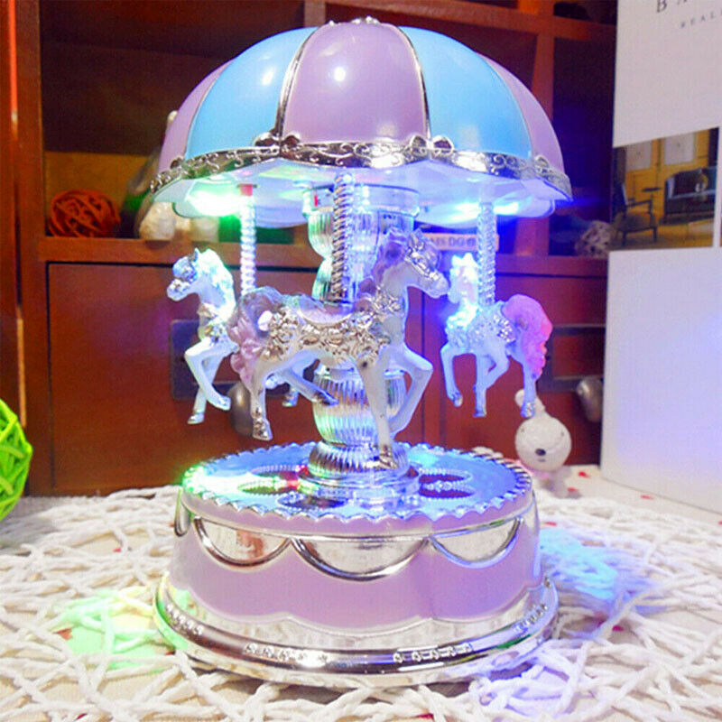 Emmababy Merry-go-round Music Box Toy Child Baby Game Home Decor Carousel Horse Music Box Christmas Wedding Birthday Gift