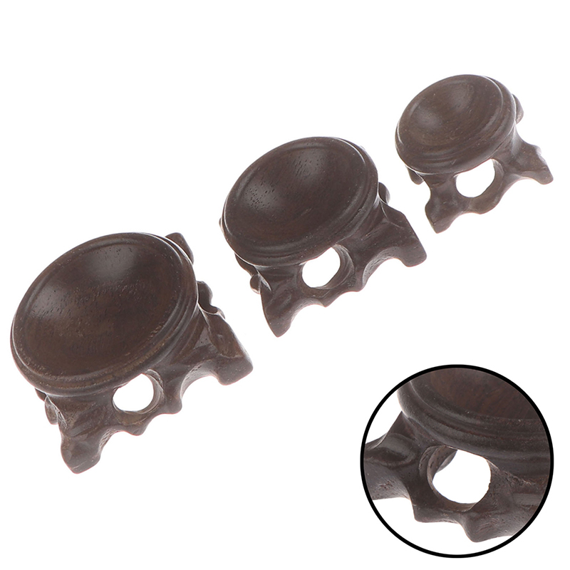 Durable Wood Display Stand Globe Stone Crystal Ball Holder Photography Lens Base Crafts Figurines Miniatures Home Decoration