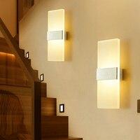 [DBF]Acryl 6W 12W Führte Wand Licht UP & Down AC220V LED Treppen Nacht Lampe Schlafzimmer lesen wand lampe Veranda Treppen Dekoration licht|LED-Innenwandleuchten|   -