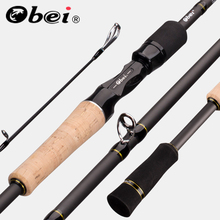 Obei Elf caña de pescar giratoria de 1,68 m, 2,1 m, 2,4, señuelo de pesca callejero ultraligero de viaje, dos puntas, 5 50g M/ML/MH, varilla rápida