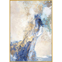 Modern High Quality hand painted Abstract Gold foils Oil Painting on Canvas with for Living Room Home Decor Unframed