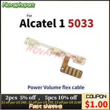 Novaphopat para alcatel 1 5033 ot5033 5033a 5033j 5033x 5033d 5033t power on off interruptor de volume conector cabo flexível