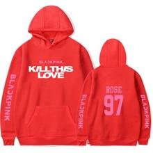 team blackpink kill this love Hoodie Pullover Men Women Fashion Casual Long Sleeve Hoodie Pullover Teens Outdoor Sweatshirt