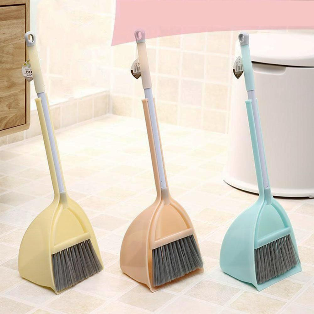 Kids In Kitchen Broom Miniature Utensils Toys Stretchable Floor Cleaning Tools Mop Broom Dustpan Play House Toys Gift