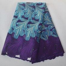 Новое поступление, Африканская Хлопковая кружевная ткань, высокое качество, вышитые камни, нигерийская полировка, сухая швейцарская вуаль, ...