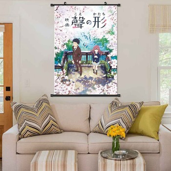 Anime Koe No Katachi A Silent Voice Ishida ShoyaWall Poster Scroll Cosplay Home Decoration Pictures Poster For Living Room image