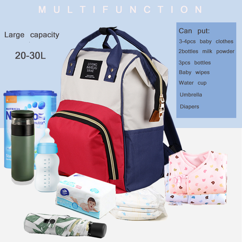 Multi-functional Mummy Nappy Bag Outdoor Mom's Big Capacity Backpack Nursing Bags Mummy Travel Zippers Baby Care Backpacks
