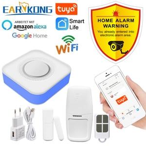 Image 1 - Tuya inteligente wi fi sistema de alarme segurança em casa 433mhz sem fio sirene estroboscópica alarme compatível com alexa google início tuya app