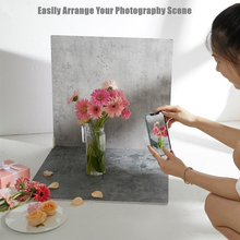 60CM PVC Photography Background Board Cement Marble Wood Grain Shooting Background Wall Dessert Jewelry Food Backdrop Board