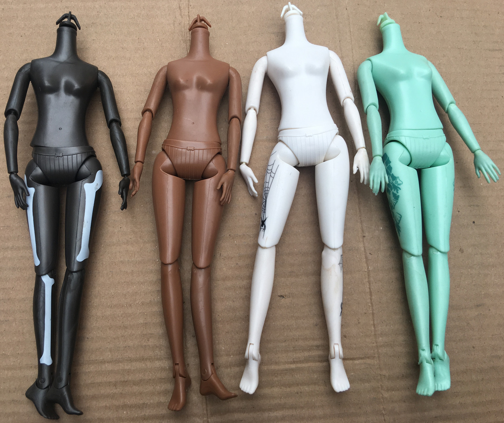 Quality Doll Body Multi-Joints Movable 1/6 Doll Toy Body Brown Black Green Doll Yoga Slim Fat Body Girl DIY Dressing Toy Figures