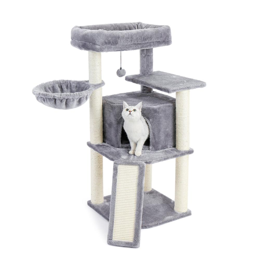 <font><b>Pet</b></font> <font><b>Cat</b></font> Climbing <font><b>Tree</b></font> <font><b>Cat</b></font> Condo Kitty <font><b>Tower</b></font> with Scratching Post Hammock Bed Multi Level <font><b>Cat</b></font> Climbing Activity <font><b>Tree</b></font> for <font><b>Cats</b></font> image