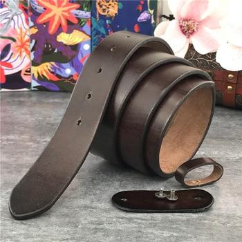 Super Thick Top Quality Genuine Leather Luxury Belts Without Belt Buckle Men Belt Male Strap Ceinture Belt Men 95-125CM SP01
