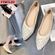 Size 35-40 womens flat shoes 2019 shallow mouth solid color set of feet comfortable