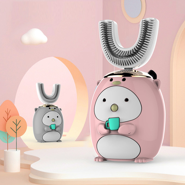 New Hot Children Electric Toothbrush Cartoon Pattern Tooth Brush Electric Teeth Tooth Brush For Kids with Soft Replacement Head 2