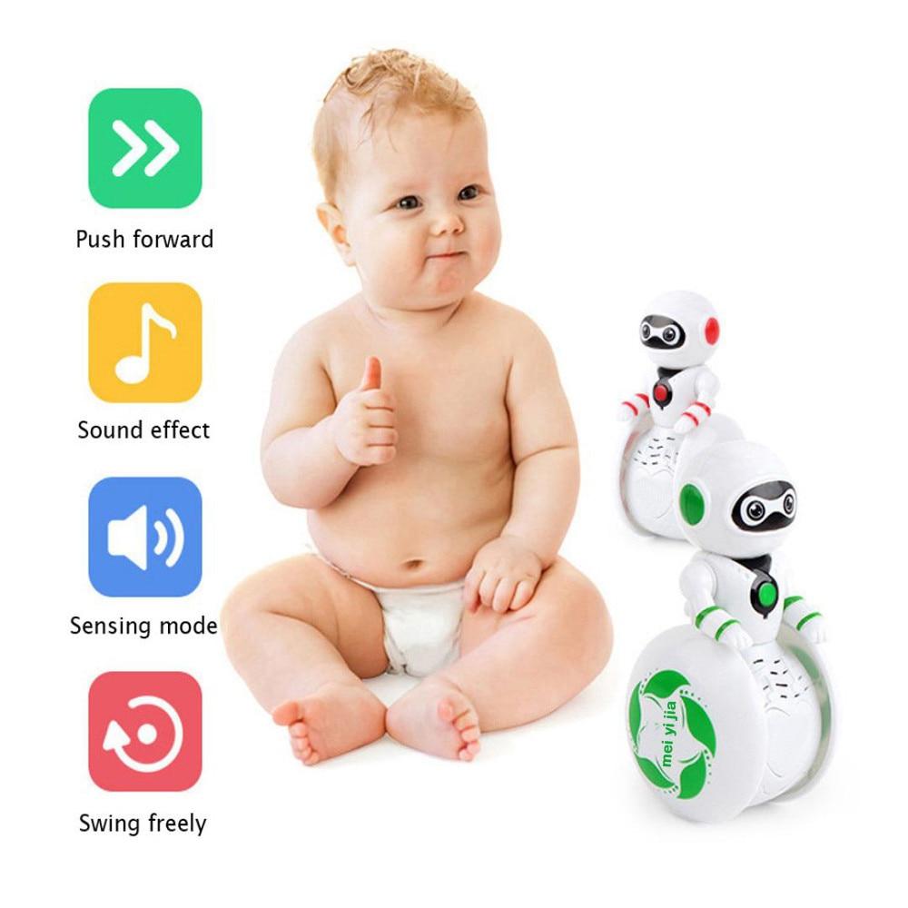 Mini Electronic  Smart Bot Robot Astronaut Kids Music Lightening  Light Toys 2018 Brusting Christmas Gifts