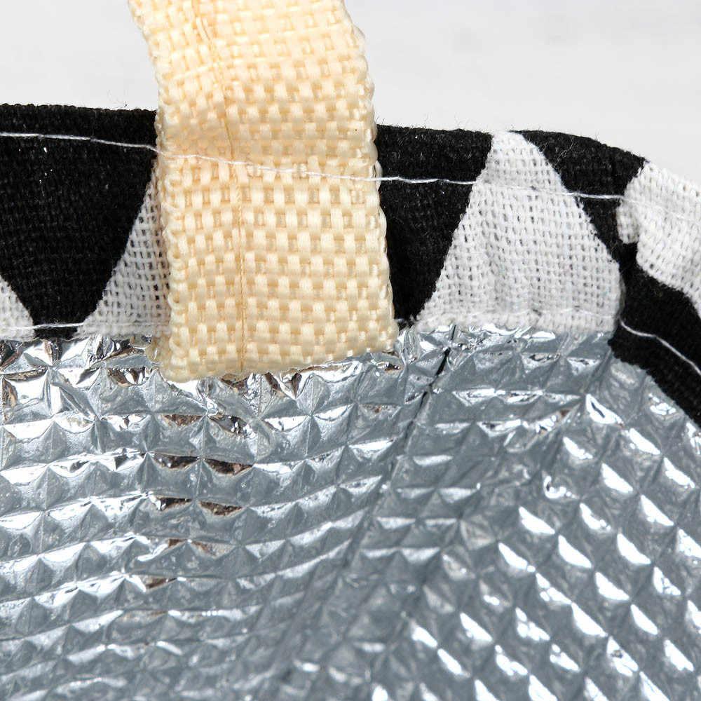 Bolsas de almuerzo impermeables de lona portátil con cremallera para mujer estudiante lonchera bolsas térmicas bolsas de oficina escuela Picnic bolsa más fresca Bolso A118