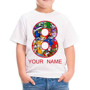 Custom name Sonic T-Shirt Boys Clothes Cool Children Clothes Sonic The Hedgehog Mario Girls Sweatshirt Boys T Shirt Kid Girl Top custom name sonic t shirt boys clothes cool children clothes sonic the hedgehog mario girls sweatshirt boys t shirt kid girl top