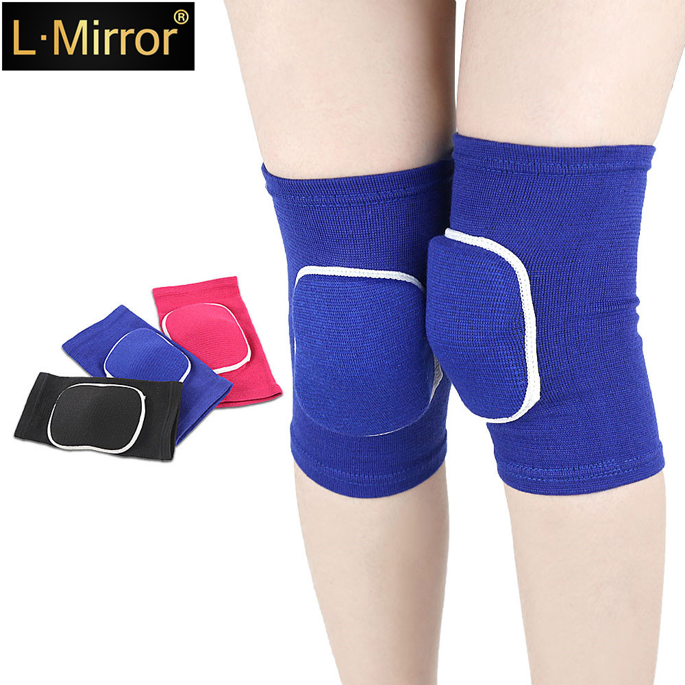 L.Mirror 1Pair Kids Elastic Kneepads Breathable Anti-slip Sponge Knee Brace Support Knee Sleeve Protector Support Pad Wrap Prote