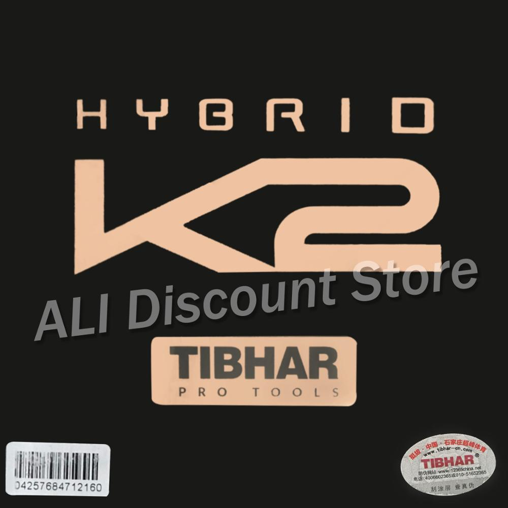 TIBHAR 2019 New HYBRID K2 (Sticky Rubber + German Hard Sponge, Speed & Spin) Pips-in  Table Tennis Rubber Ping Pong Sponge