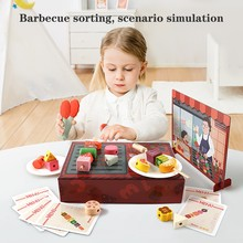Funny Children Pretend Role Play Wood Food Simulation Barbec