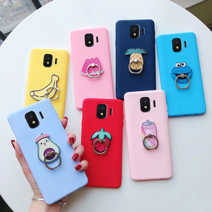 Silicone For Samsung Galaxy J2 Core Case Flower Soft Back Cover for Galaxy J2 Core 2018 J260F J260 Phone Holder Kickstand cover