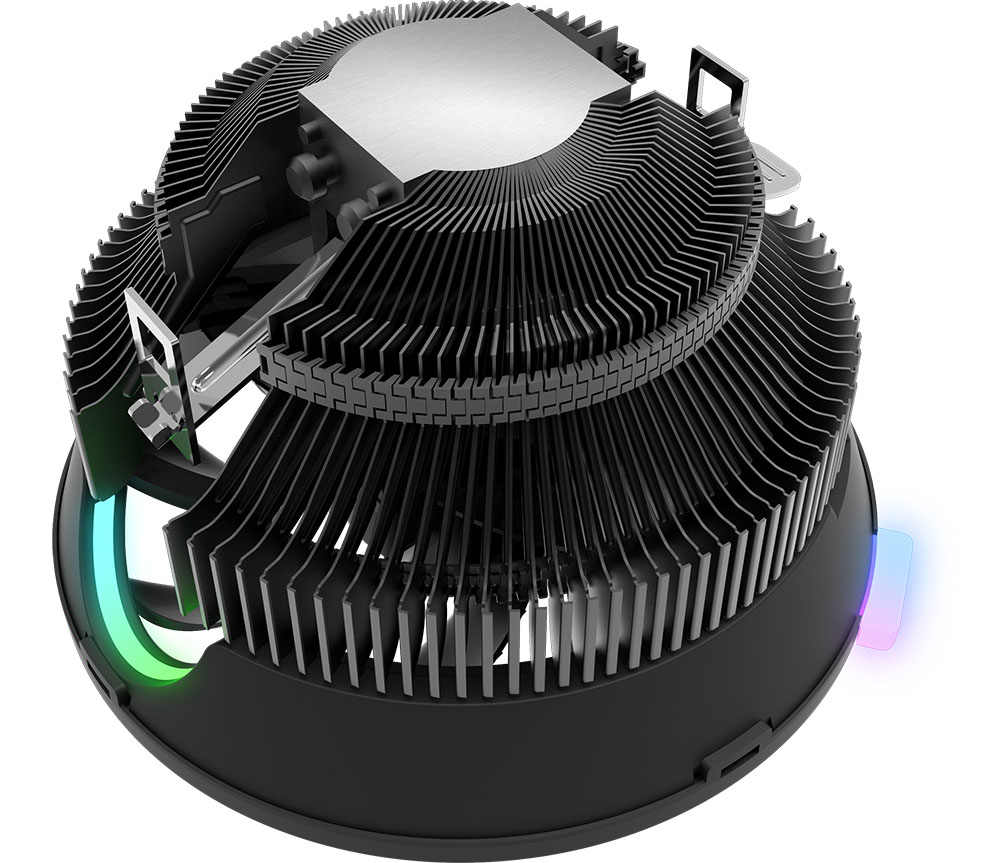 愛国者 Darkflash CPU クーラー LED CPU コンピュータファン Amd のインテルサイレント 3Pin 冷却クーラーファン一般的な LGA/115X/ 775/AM3/AM4/1155/1156