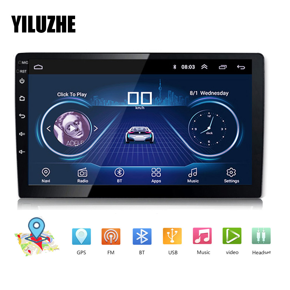 """10.1/"""" Android 8.1 Car Stereo Radio GPS Double 2Din Wifi OBD2 Mirror Link Player"""