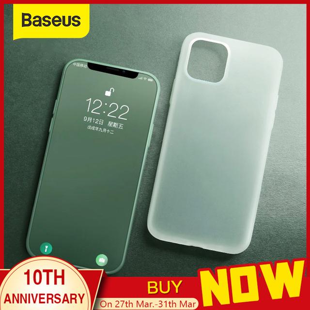 Baseus Liquid Silicone Case For iPhone 11 Pro Max Case Silicone Coque Cover For iPhone 11 Pro Case Phone Back Coque Case