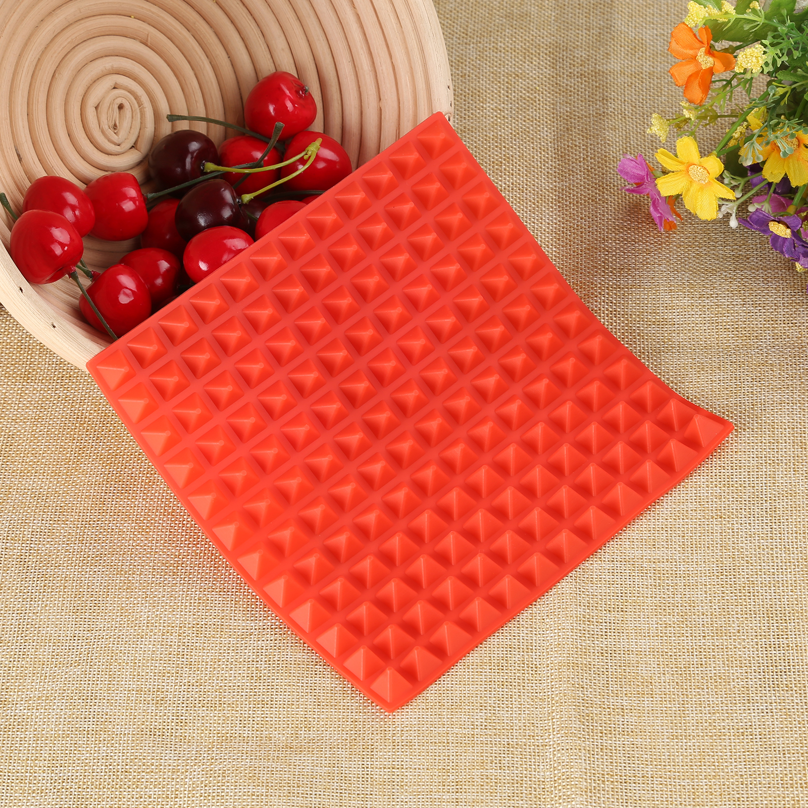 3 Colors Silicone Baking Mat In Non Toxic And High Temperature Resistance For Chocolate And Jelly Pudding 16
