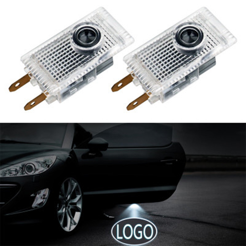 2pcs Led car door light For <font><b>Mercedes</b></font> <font><b>Benz</b></font> E <font><b>W210</b></font> W639 Sprinter VIANO VITO amg Logo Projector Laser Light emblem <font><b>Accessories</b></font> image