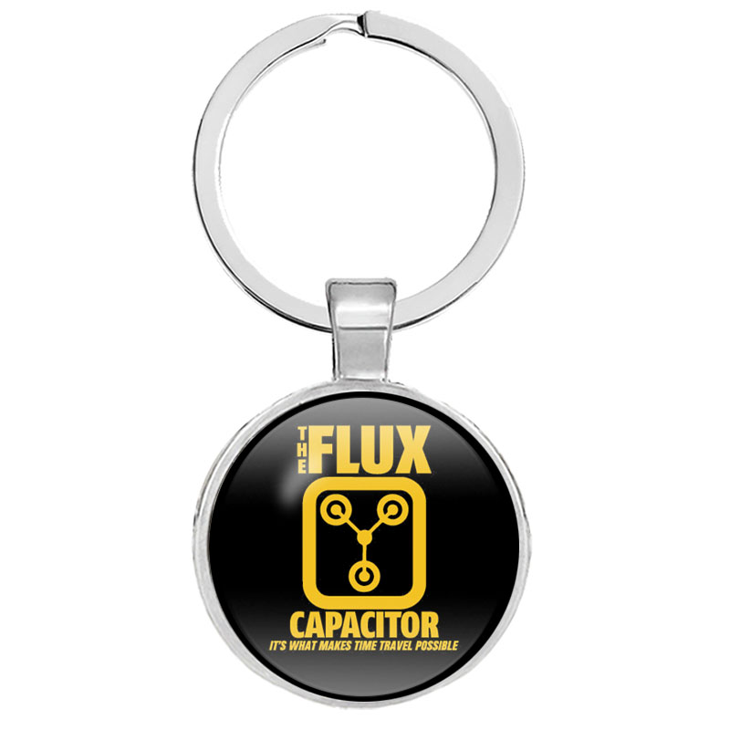 2019 NEW Flux Compression Keychains Back To The Future Keychain  Fashion Flux Capacitor Physicals Key Chain Gifts Jewelry