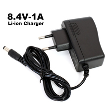Бесплатная доставка, 8,4 в/7,4 В, 1 А, 2 тандемное зарядное устройство для литиевых батарей, полимерное зарядное устройство постоянного тока 5,5*2,1 мм