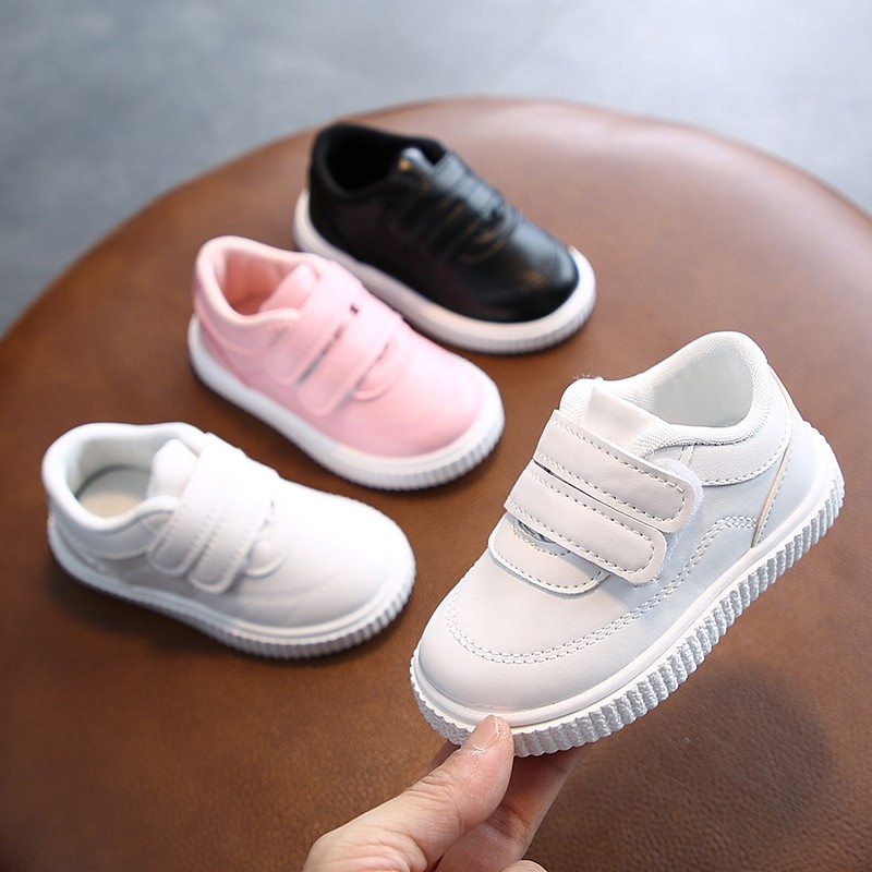 Kids Sneakers Girls Trainers Boys Shoes Children Leather Shoes White Black School Running Shoes Pink Sports Shoes Flexible Sole