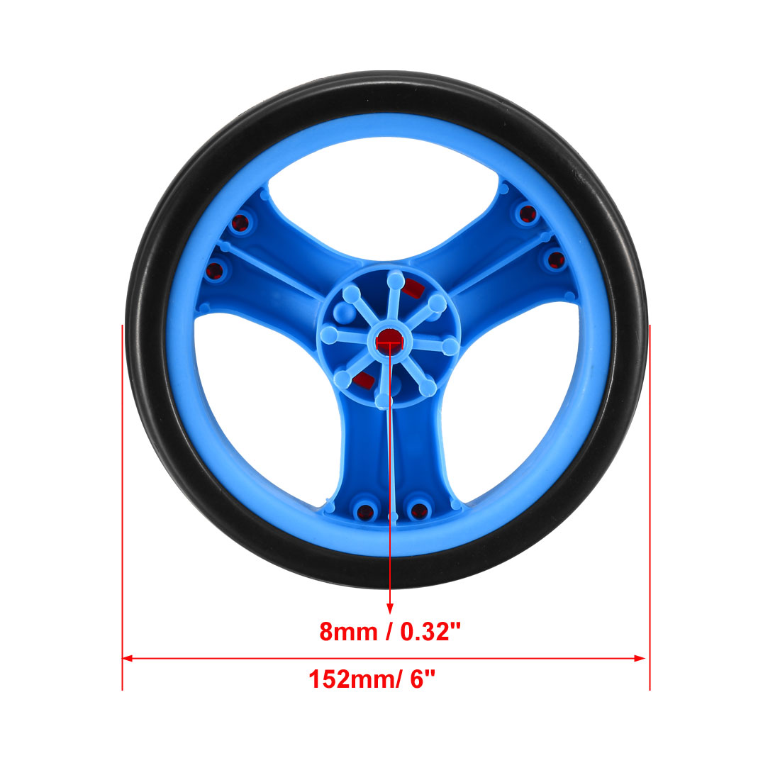 Plastic Swivel Pulley Wheel 126mm//5inch Dia Single Wheel 6mm Mounting Hole