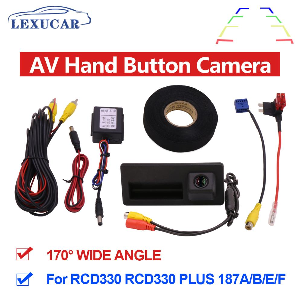 MIB AV Rear View Camera With Handle HD Wide Angle Rearview Parking Car Reverse RCD330 Plus For VW TIGUAN Passat B6 B7 Golf 5 6