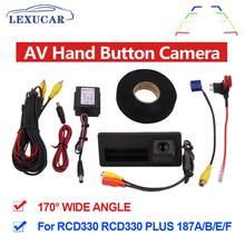 MIB AV камера заднего вида с ручкой HD широкоугольная автомобильная парковочная камера заднего вида RCD330 Plus для VW TIGUAN Passat B6 B7 Golf 5 6