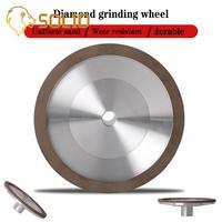 200mm Diamond Grinding Wheel with Shank 19mm Resin Bond Grinder for Tungsten Steel Milling Cutter Sharpener 1Pc