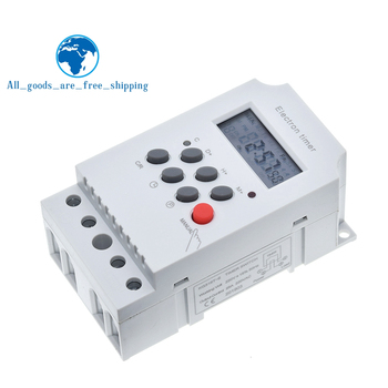 KG316T-II timer elektroniczny AC 220V 25A na szynę Din cyfrowy programowalny timer elektroniczny przełącznik sprzęt elektryczny sterowania on/off