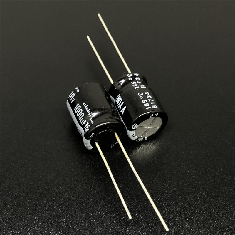 5Pcs/<font><b>50Pcs</b></font> <font><b>1000uF</b></font> <font><b>16V</b></font> NICHICON VY Series 10x12.5mm Wide Temperature Range 16V1000uF Aluminum Electrolytic Capacitor image