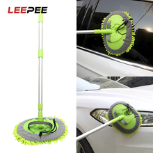 LEEPEE mopa de limpieza de coche ajustable, cuidado automático, herramienta de lavado de ventanas, mopa de cera de polvo, accesorios de coche