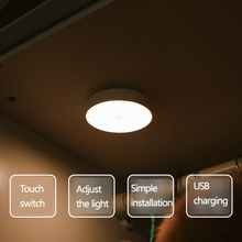 Wall-Lamp Night-Light Led Cabinet Corridor Kitchen Rechargeable Wardrobe Touch-Dimming
