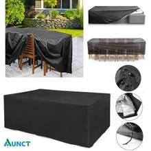 Housse anti-poussière pour meubles de jardin en rotin, tissu Oxford, 36 tailles différentes, protection imperméable contre la pluie, pour table, chaise, canapé et patio